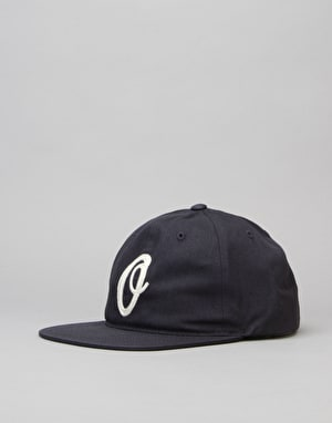 Obey Burnt Hat 6 Panel Cap - Navy
