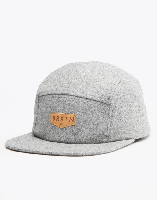Brixton Haft 5 Panel Cap - Heather Grey