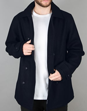 The Hundreds Wul Peacoat Jacket - Navy