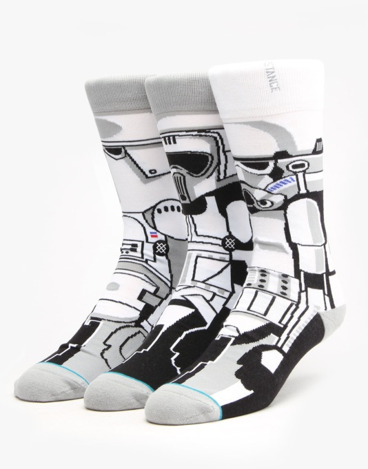 Stance x Star Wars Trooper Socks (3 Socks) - White