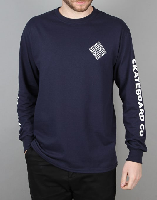 The National Skateboard Co. Corp L/S T-Shirt - Navy