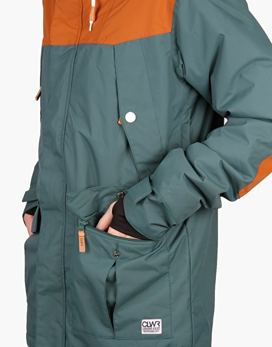 Colour Wear Charge 2016 Snowboard Jacket - Bottle Green