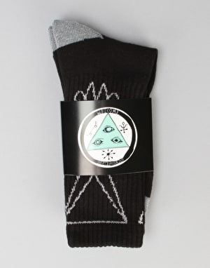 Welcome Lui Lui Socks - Black Heather