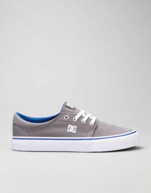 DC Trase TX Skate Shoes - Grey/Blue