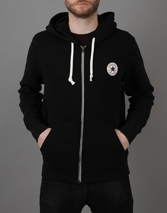 Converse Core Full Zip Hoodie - Converse Black