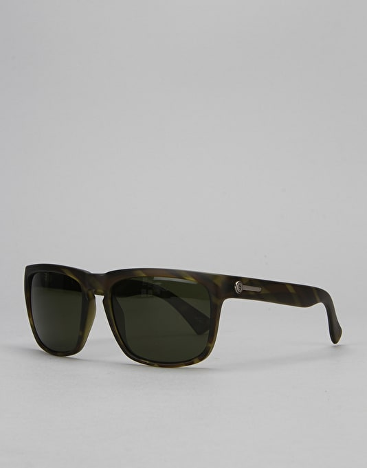 Electric Knoxville Sunglasses - Matte Olive Tortoise/Medium Grey