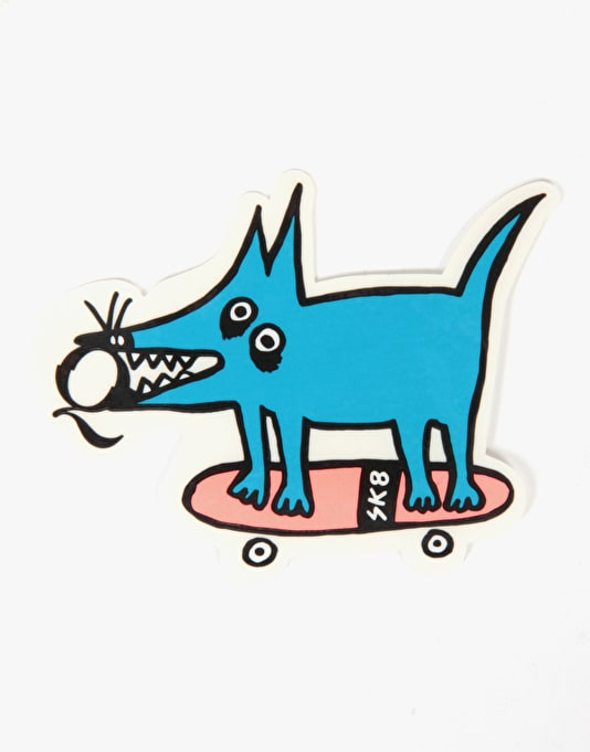 Quasi Sk8 Dog Die Cut Sticker