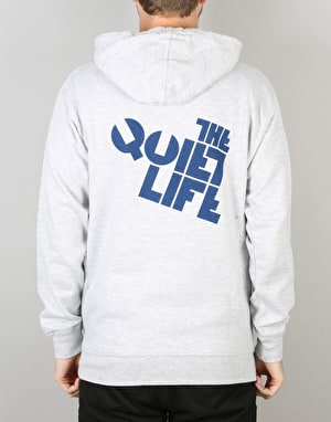 The Quiet Life Block Logo Pullover Hoodie - Hearher Grey