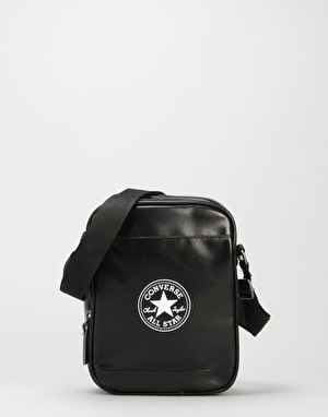 Converse PU Cross Body Bag - Jet Black
