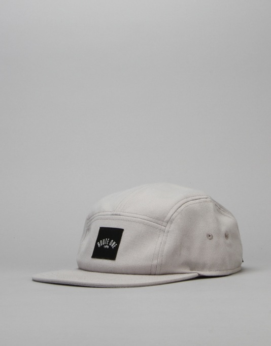 Route One Box Logo 5 Panel Cap - Grey