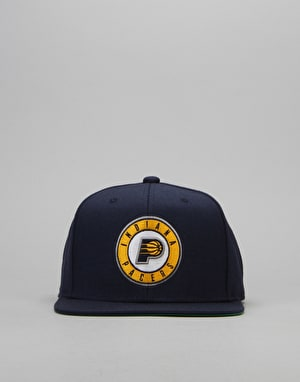 Mitchell & Ness NBA Indiana Pacers Wool Solid Snapback Cap - Blue