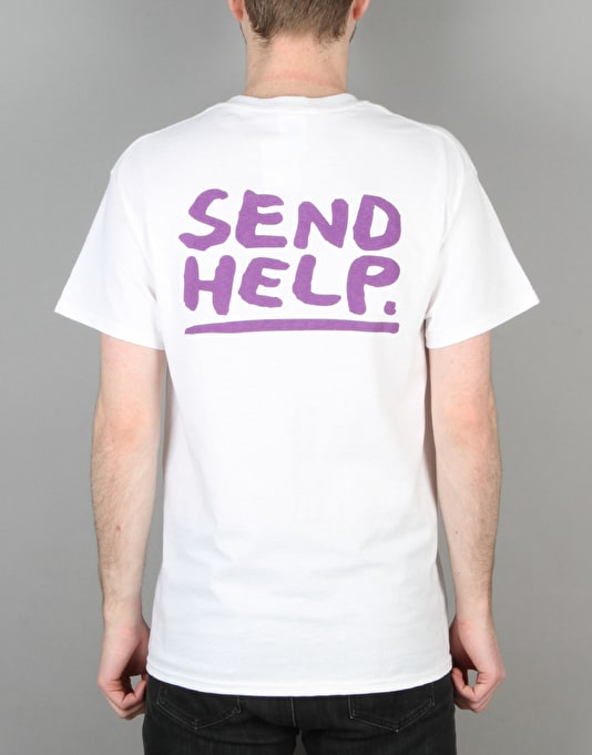 Send Help Basic Logo T-Shirt - White