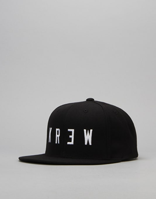 Kr3w Locker 2 Snapback Cap - Black/White