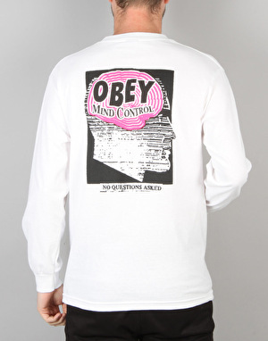 Obey Mind Control L/S T-Shirt - White