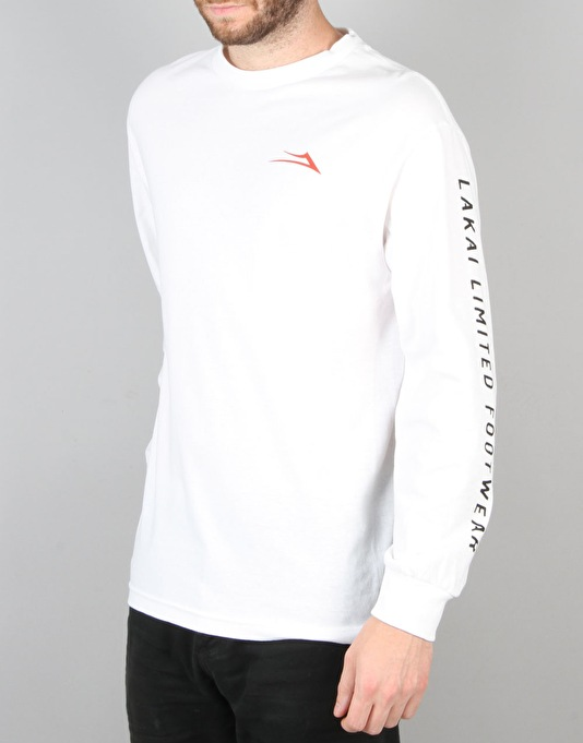 Lakai Banks L/S T-Shirt - White