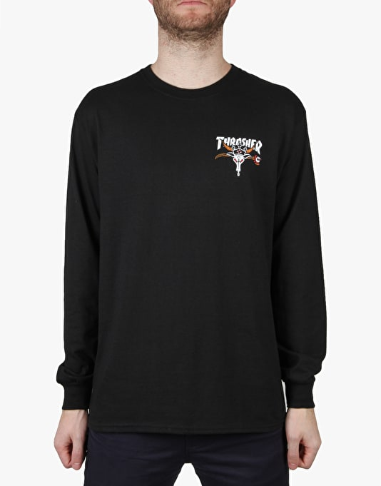 Thrasher King of Diamonds L/S T-Shirt - Black
