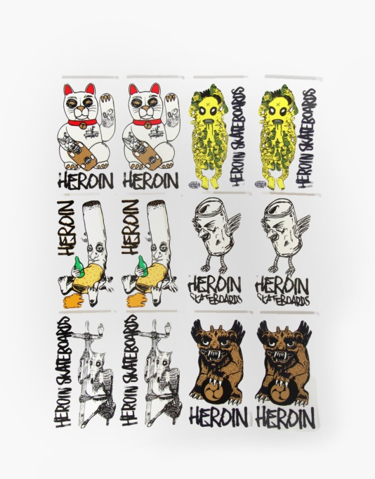 Heroin Icon Sticker Pack (12 Stickers)