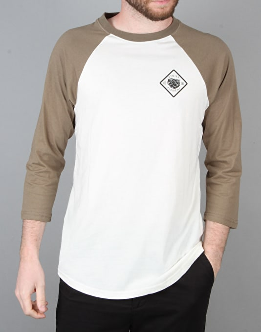 Etnies x Element Hellbound Baseball T-Shirt - Off White