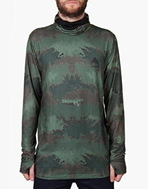 Burton Midweight Long Neck 2016 Snowboard Thermal Top - Oil Camo