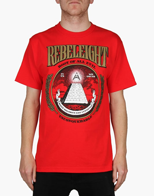 Rebel8 Root Of All Evil T-Shirt - Red
