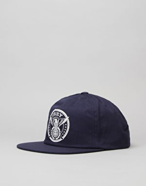 Obey Peace & Justice Snapback Cap - Navy