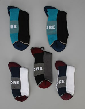 Globe Evan Crew Sport Socks - 5 Pack