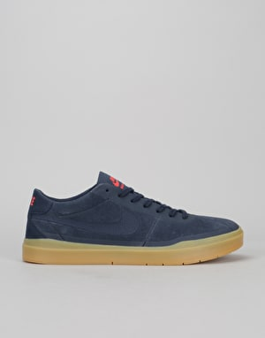 Nike SB Bruin Hyperfeel Skate Shoes - Obsidian/Gum-Light Brown
