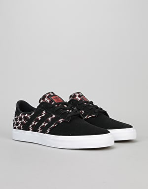 Adidas Seeley Premier Skate Shoes - Core Black/Craft Chilli/White