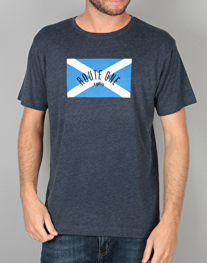 Route One Scottish Flag Logo T-Shirt - Navy Marl