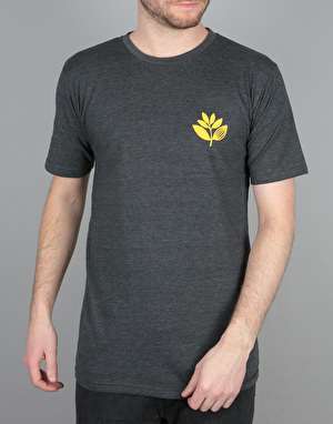 Magenta Plant T-Shirt - Dark Heather