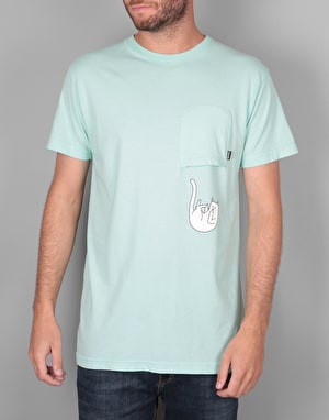 RIPNDIP Falling for Nermal Upside Down Pocket T-Shirt - Mint