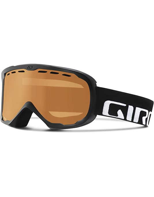 Giro Focus 2017 Snowboard Goggles - Black Wordmark/Amber Rose