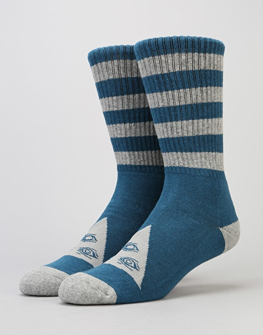 Welcome Trangle Socks - Dark Teal/Heather