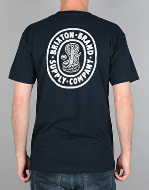 Brixton Pace T-Shirt - Navy/White