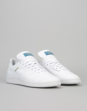 Adidas Busenitz RX Skate Shoes - Ftwr White/Gold Metallic/Bluebird