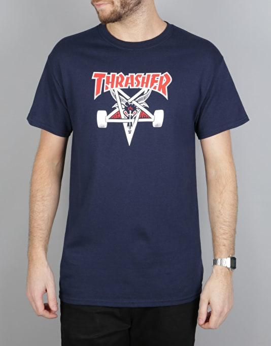 Thrasher Two-Tone Skate Goat T-Shirt - Navy