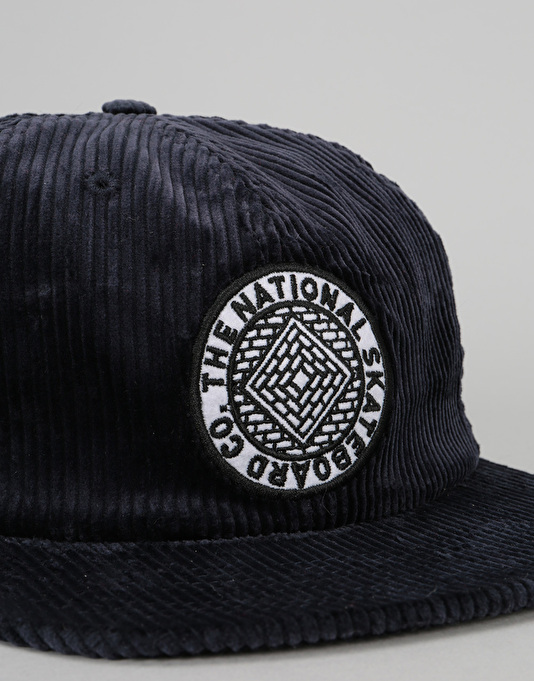 The National Skateboard Co. Unstructured Corduroy 6 Panel Cap - Navy