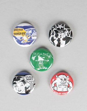 Thrasher Usual Suspects Button 5 Pack - Multi
