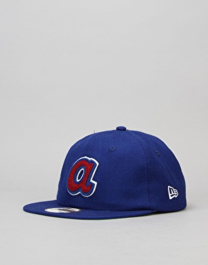 New Era MLB Atlanta Braves Heritage Wool 19Twenty Strapback Cap - Blue