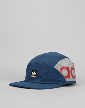 Adidas Skateboarding Chalk 5 Panel Cap - Mystery Blue