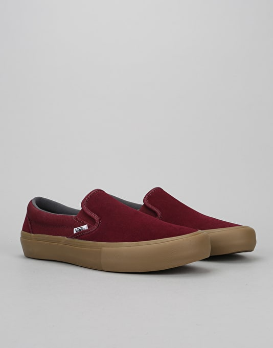 Vans Slip-On Pro Skate Shoes - Port Royale/Gum
