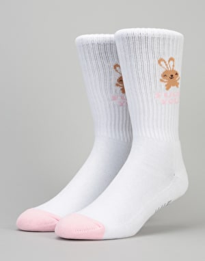 HUF Bunny Cute Crew Socks - White