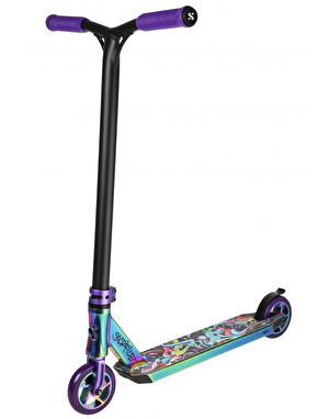 Sacrifice Flyte 100 Scooter - Neo Chrome/Purple/Graffiti