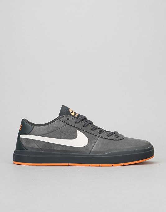 Nike SB Bruin Hyperfeel XT Skate Shoes - Anthracite/White-Clay Orange