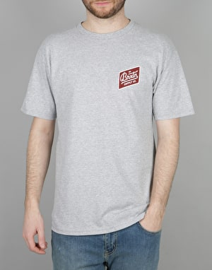 Brixton Bedford T-Shirt - Heather Grey