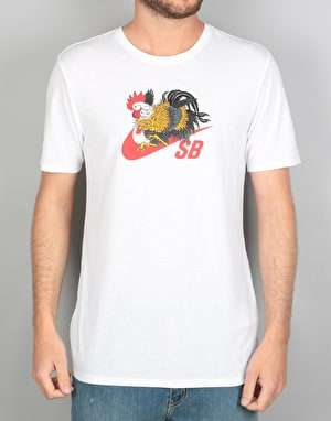 Nike SB Rooster Dry T-Shirt - White