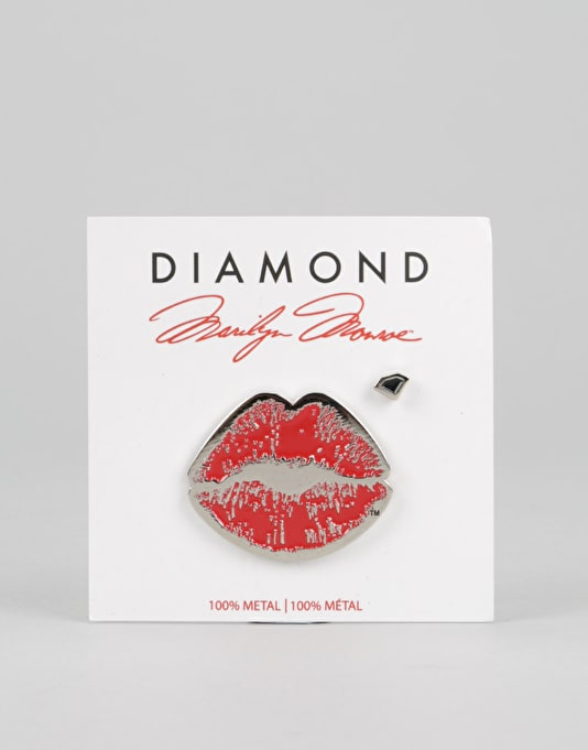 Diamond Supply Co. x Marilyn Monroe Lips 2 Piece Pin Set - Red