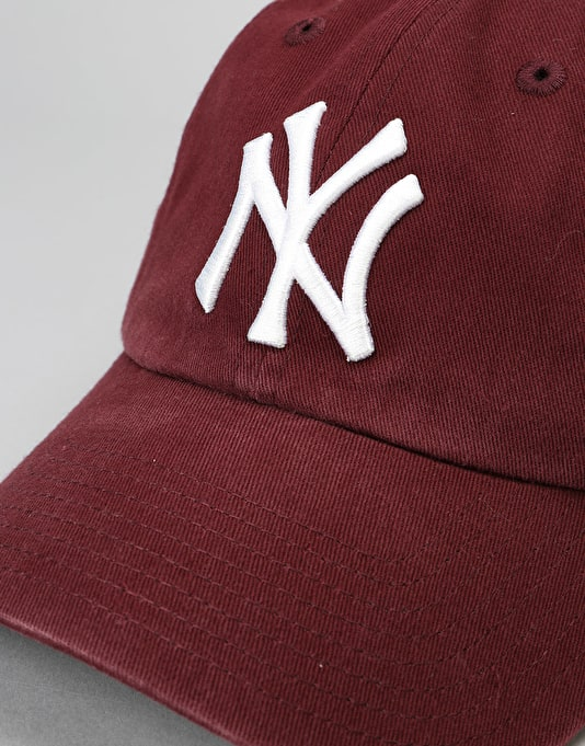 '47 Brand MLB New York Yankees Clean Up Cap - Dark Maroon
