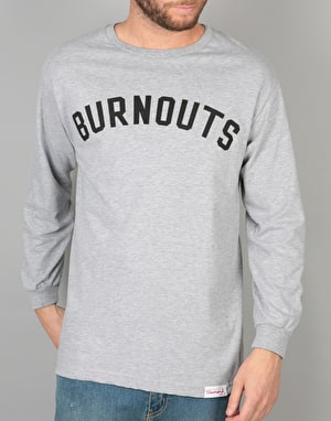 Diamond Supply Co. Burnout Long Sleeve T-Shirt - Heather Grey