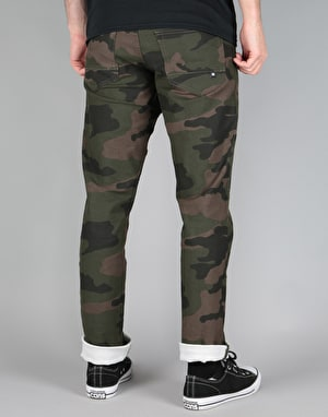 DC Printed Straight Fit Jeans - Bold Camo Green